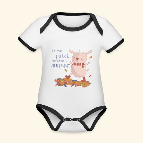 Autumn - Organic Baby Contrasting Bodysuit