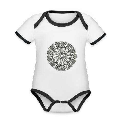 zuiger rol - Baby contrasterend bio-rompertje met korte mouwen