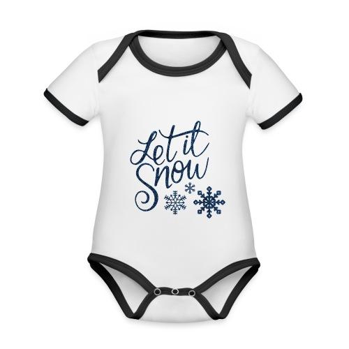 Let il snow Noël New shape fane design vintage - Body Bébé bio contrasté manches courtes