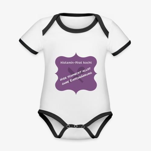 Histamin-Pirat kocht ohne Einschränkung (lila) - Baby Bio-Kurzarm-Kontrastbody