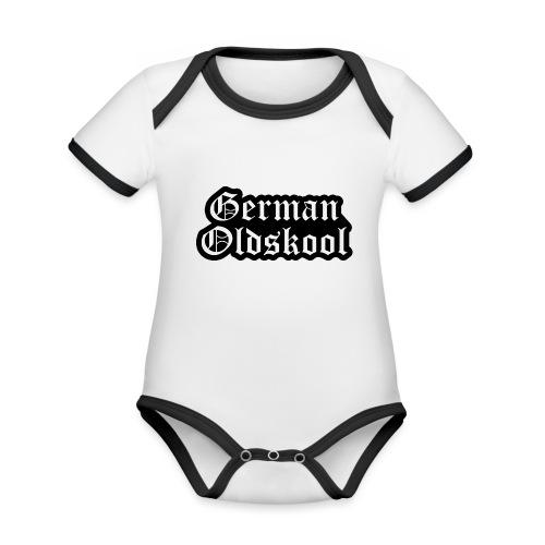 Grand Logo German Oldskool Official - Body Bébé bio contrasté manches courtes