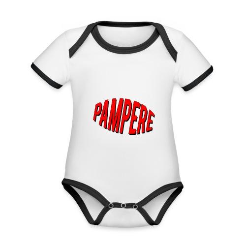 pampere - Ekologiczne body niemowlęce z krótkim rękawem i kontrastowymi lamówkami