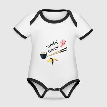 Sushi-Liebhaber - Baby Bio-Kurzarm-Kontrastbody