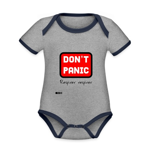 don't panic, respirer - Body Bébé bio contrasté manches courtes