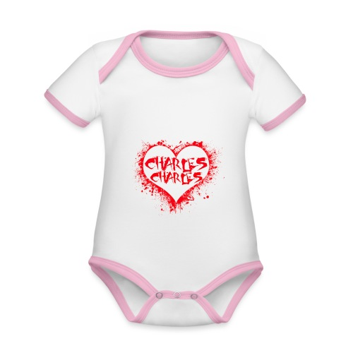 CHARLES CHARLES VALENTINES PRINT - LIMITED EDITION - Organic Baby Contrasting Bodysuit