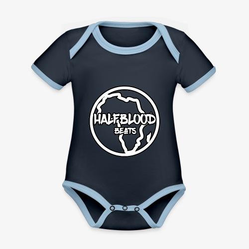 halfbloodAfrica - Baby contrasterend bio-rompertje met korte mouwen