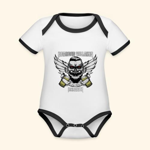 Bearded Villains Belgium - Organic Baby Contrasting Bodysuit