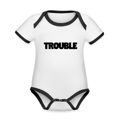Trouble - Organic Baby Contrasting Bodysuit