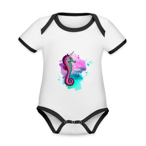 Seahorse-Unicorn - Baby Bio-Kurzarm-Kontrastbody