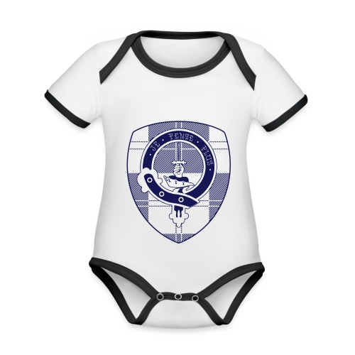 Logo Scouting Erskine 2018 - Baby contrasterend bio-rompertje met korte mouwen