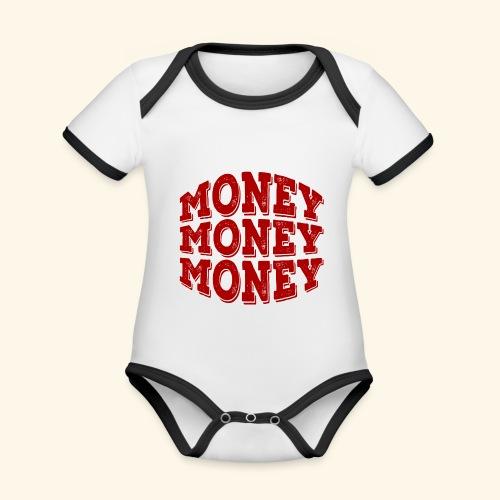 Money money money - Organic Baby Contrasting Bodysuit