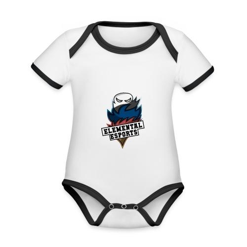 Elemental eSports | 2018 Logo - Kortærmet ækologisk babybody i kontrastfarver