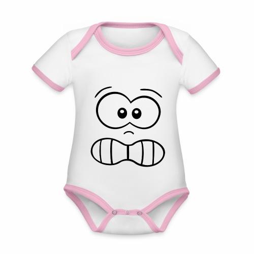 Gesicht - Baby Bio-Kurzarm-Kontrastbody