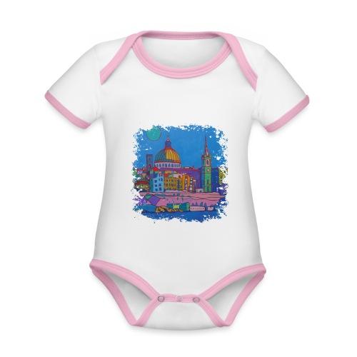 Malta - Baby Bio-Kurzarm-Kontrastbody