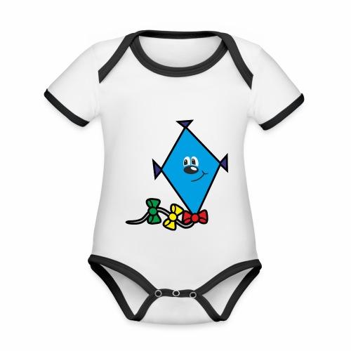 Drache - Baby Bio-Kurzarm-Kontrastbody
