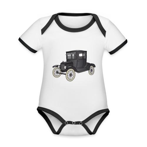 Modell T Oldtimer c - Baby Bio-Kurzarm-Kontrastbody
