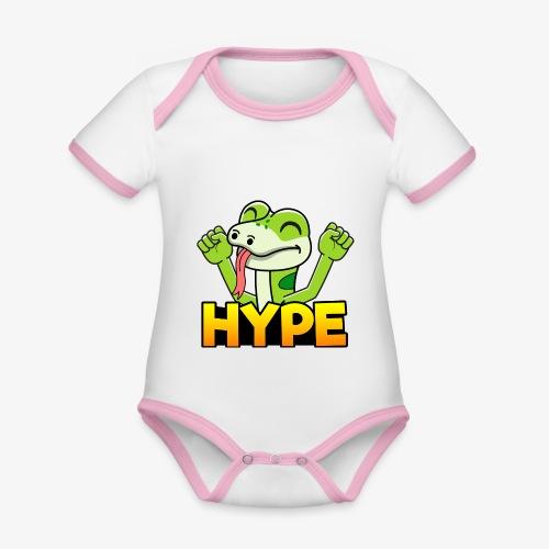 Ödlan Hype - Ekologisk kontrastfärgad kortärmad babybody