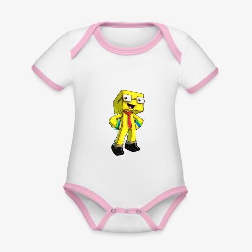 TomuCraft - Ekologisk kontrastfärgad kortärmad babybody