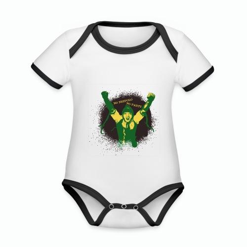 No Nespolo No Party - Body da neonato a manica corta, ecologico e in contrasto cromatico