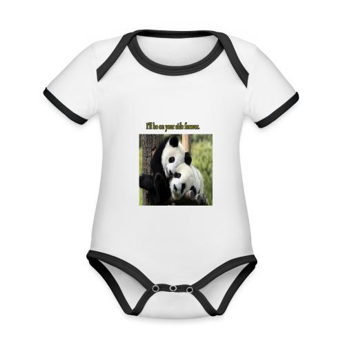 Amistad con ternura - Body contraste para bebé de tejido orgánico