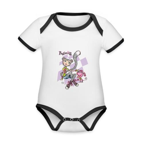Pantherilly Sneaker - Body da neonato a manica corta, ecologico e in contrasto cromatico