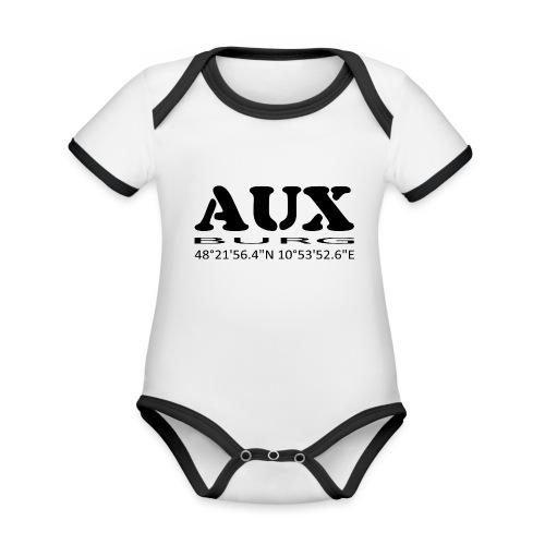 Auxburg - Baby Bio-Kurzarm-Kontrastbody
