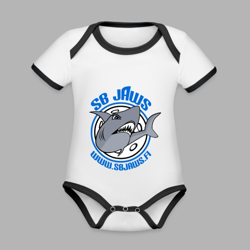 SB JAWS - Vauvan kontrastivärinen, lyhythihainen luomu-body