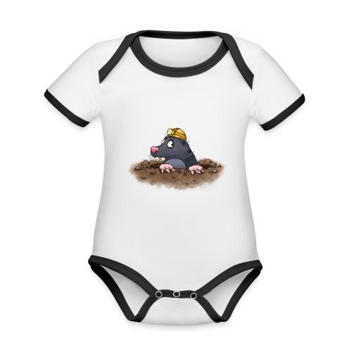 Maulwurf - Baby Bio-Kurzarm-Kontrastbody