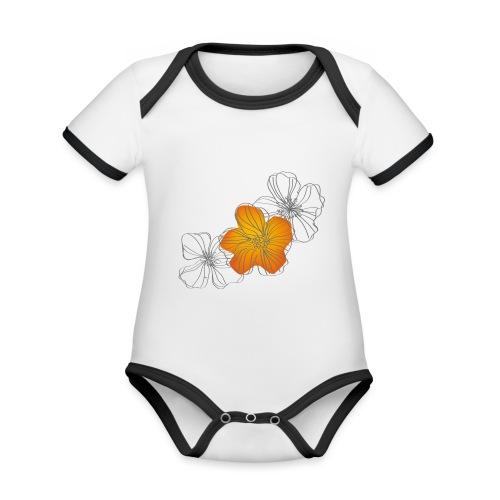 Flowers - Body contraste para bebé de tejido orgánico