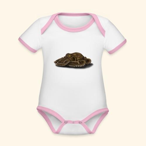 Oktopus - Baby Bio-Kurzarm-Kontrastbody