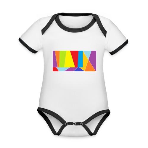 coler full emblem with black bakround - Ekologisk kontrastfärgad kortärmad babybody