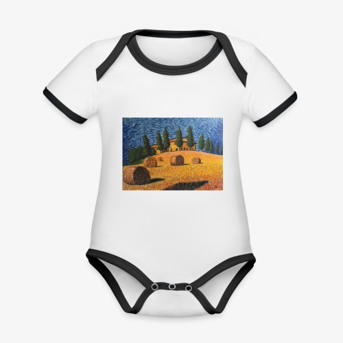 tuscany - Organic Baby Contrasting Bodysuit
