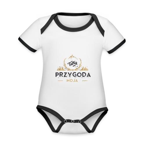 Łukasz Sobczak - Ekologiczne body niemowlęce z krótkim rękawem i kontrastowymi lamówkami