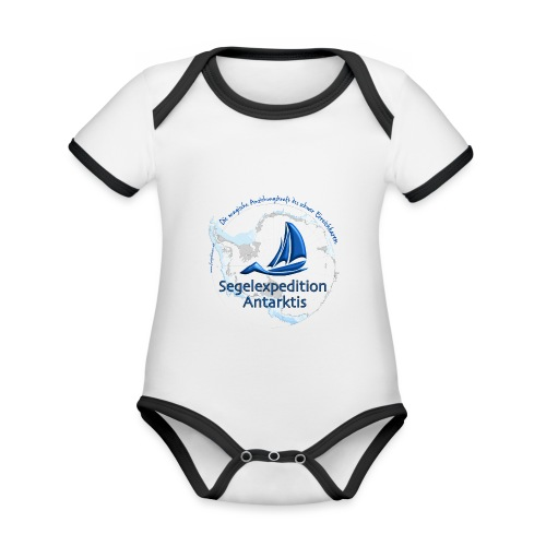 segelexpedition antarktis3 - Baby Bio-Kurzarm-Kontrastbody