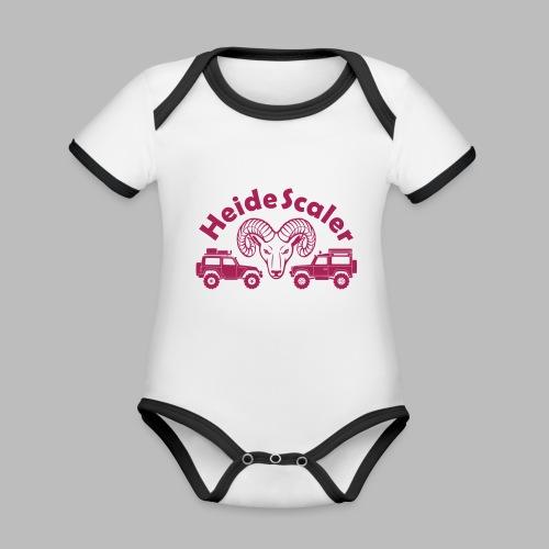 Heide Scaler (freie Farbwahl) - Baby Bio-Kurzarm-Kontrastbody