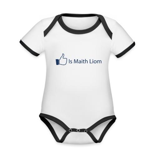 like nobg - Organic Baby Contrasting Bodysuit