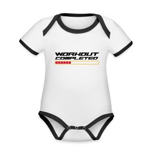 Workout Komplett - Baby Bio-Kurzarm-Kontrastbody