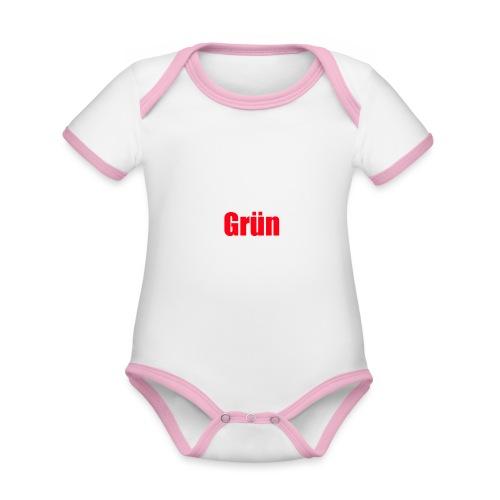 Grün - Baby Bio-Kurzarm-Kontrastbody