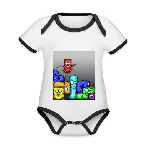 hamstris_farbe - Baby Bio-Kurzarm-Kontrastbody