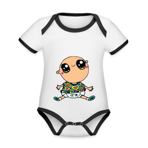 Louis le bébé - Body Bébé bio contrasté manches courtes