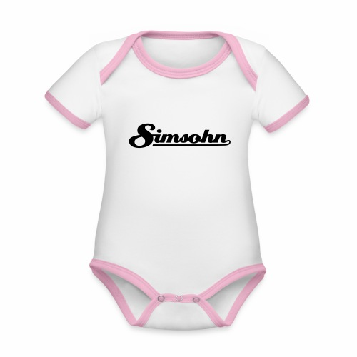 Simsohn Logo - Organic Baby Contrasting Bodysuit