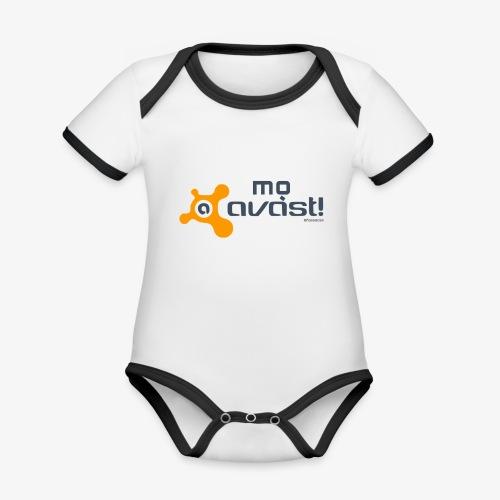 Avast! - Body da neonato a manica corta, ecologico e in contrasto cromatico