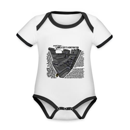 Jacobs Slott - Ekologisk kontrastfärgad kortärmad babybody