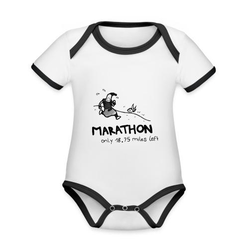 marathon-png - Ekologiczne body niemowlęce z krótkim rękawem i kontrastowymi lamówkami