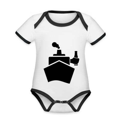 King of the boat - Baby Bio-Kurzarm-Kontrastbody