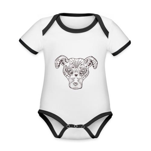 Sugar Dog - Baby Bio-Kurzarm-Kontrastbody