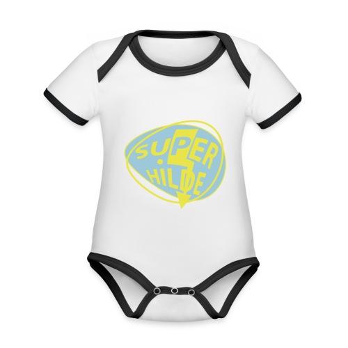 superhilde - Baby Bio-Kurzarm-Kontrastbody