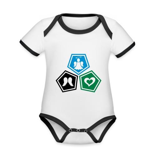Tee shirt baseball Enfant Trio ange, ailes d'ange - Organic Baby Contrasting Bodysuit