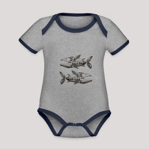 FishEtching - Organic Baby Contrasting Bodysuit
