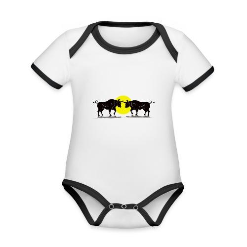 Taurus Bull - Organic Baby Contrasting Bodysuit